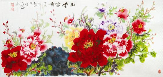 声韵一画中国--当代吉林意味领军人物-蓝山频所艺术一书的体现情趣图片