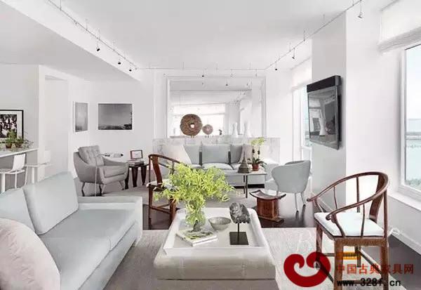 现代风格搭配红木沙发