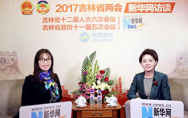 杨安娣接受新华网访谈