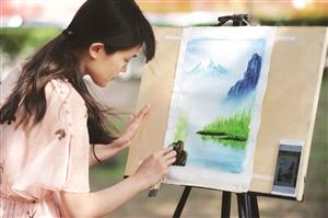 吉大学子刀笔画艺术诠释别样大学生活