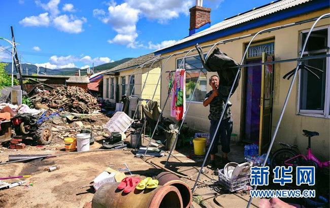吉林:受災群眾重建家園