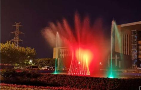 长春新增了一座可移动喷泉
