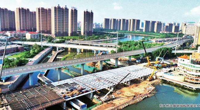 长春市东大桥10日合龙 预计9月末通车