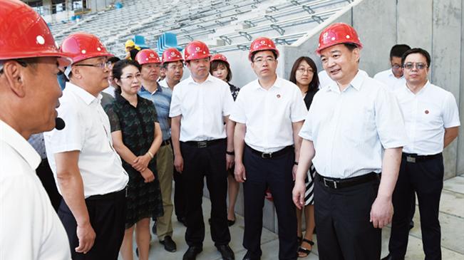王君正调研奥林匹克公园建设:打造城市精品地标性建筑