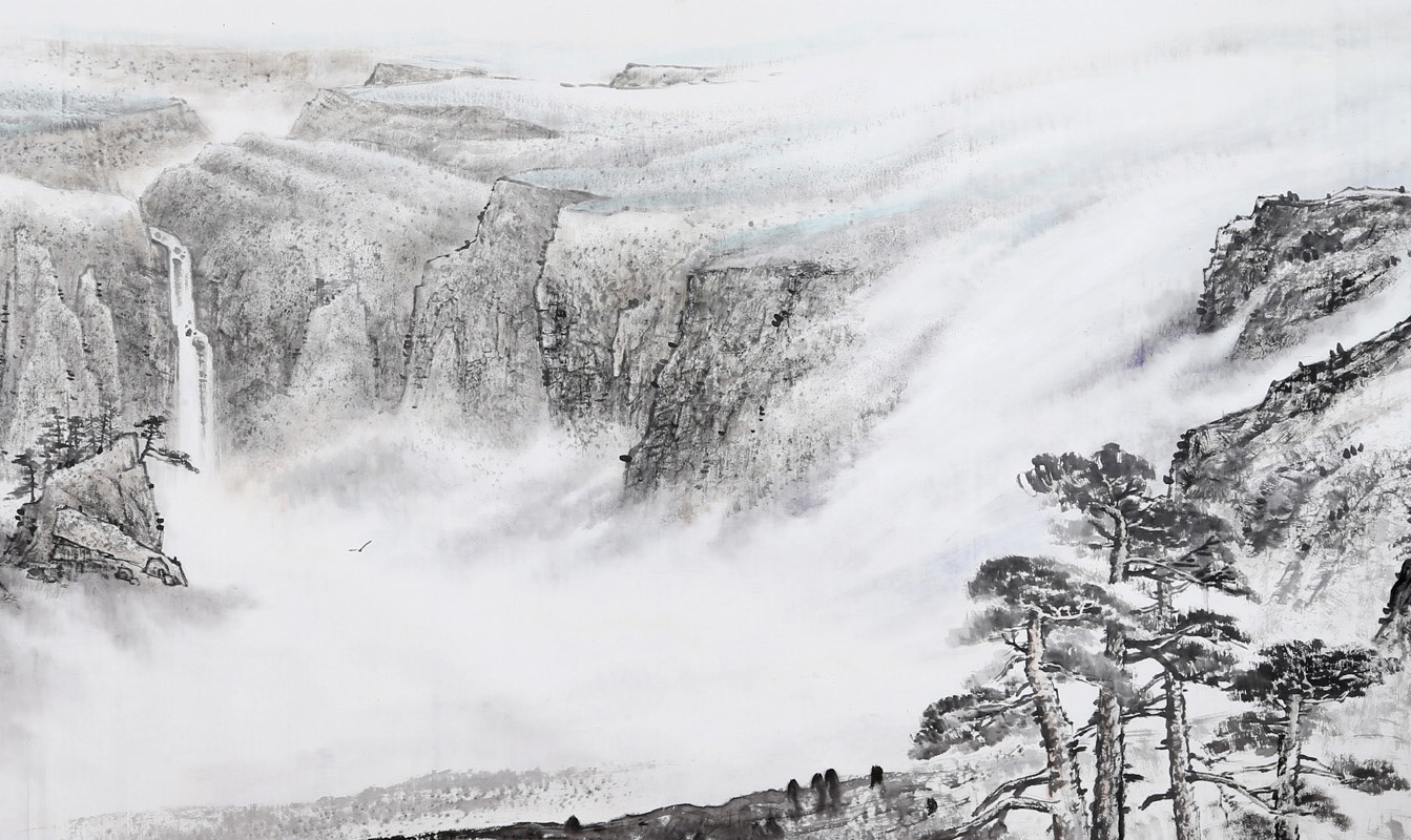 《傲雪長白萬木中》