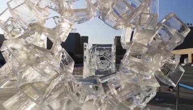 """一分鐘短視頻:""""一箭三雕""""看冰雕雪雕現代雕塑"""