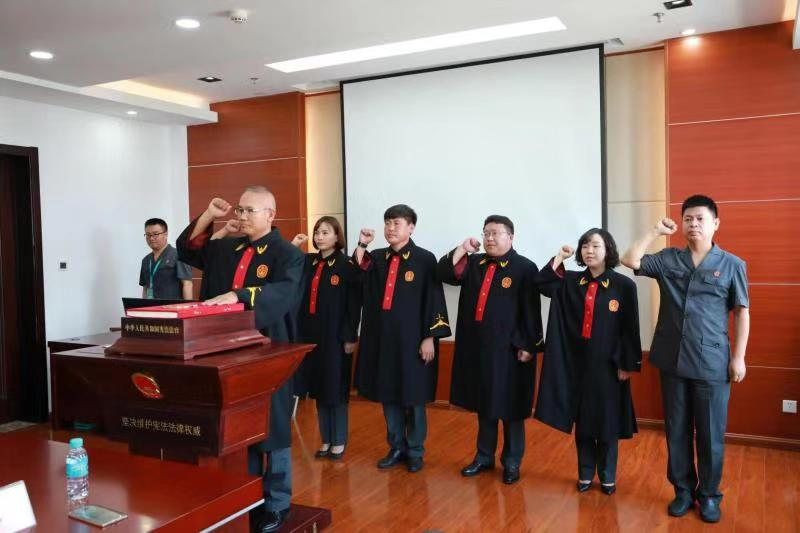 延邊州法院舉行新任職幹部憲法宣誓儀式