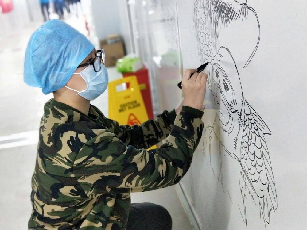 """還記得雷神山醫院的""""網紅墻""""嗎?同款手繪現吉林市抗疫療區"""