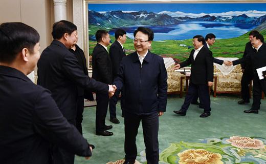 景俊海韓俊分別接見吉林省赴京參加表彰的全國勞動模范和先進工作者、吉林省參加全國精神文明建設表彰大會載譽歸來代表