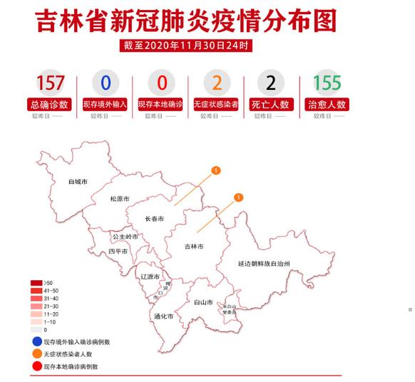 吉林省新冠肺炎疫情分布圖