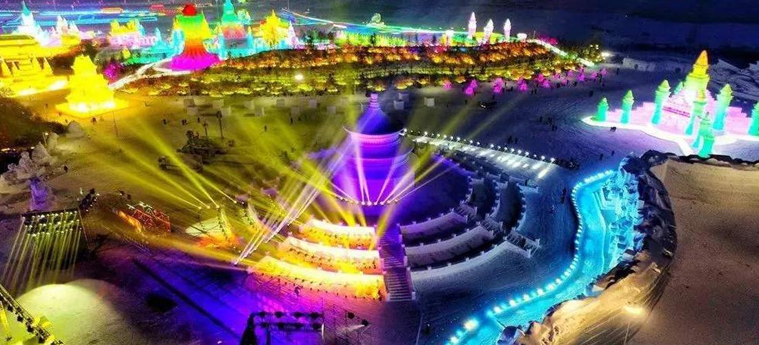 美哉莲花山:漂亮的夜景