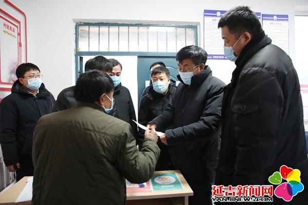 蔡奎龍調研鄉鎮疫情防控工作情況
