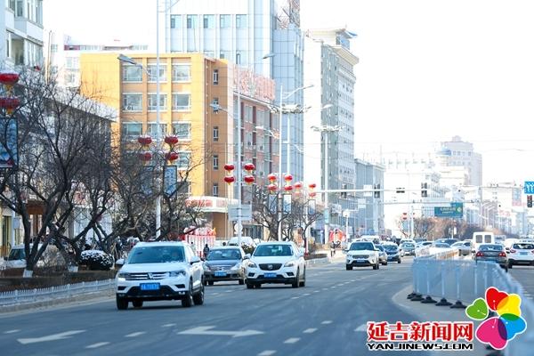 【组图】延吉街头大红灯笼喜迎新春