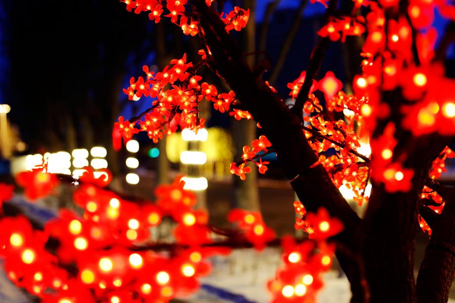 【新春走基层】长春新区打造城市新街景 璀璨华灯美丽绽放