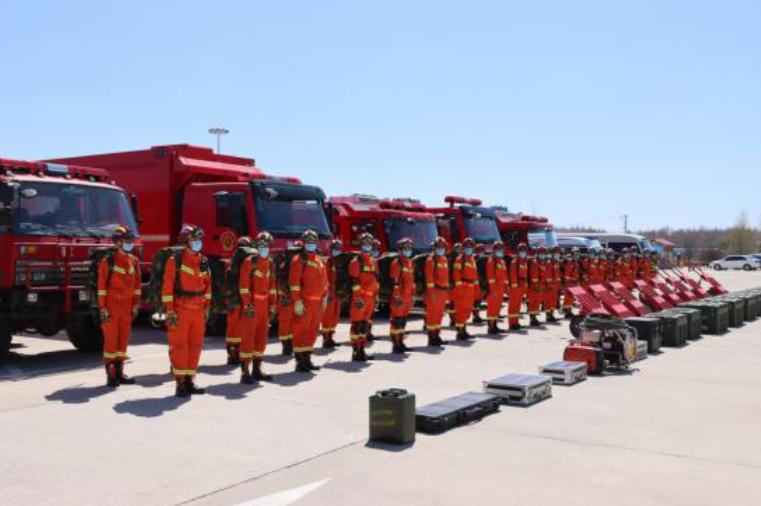 长白山消防救援支队开展跨区域地震救援拉动演练